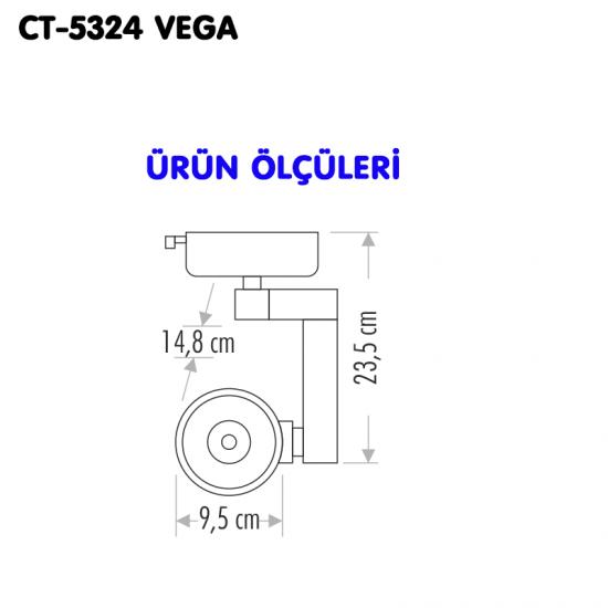 Cata 32W Cob Led Armatür Vega CT-5324 - Gün Işığı
