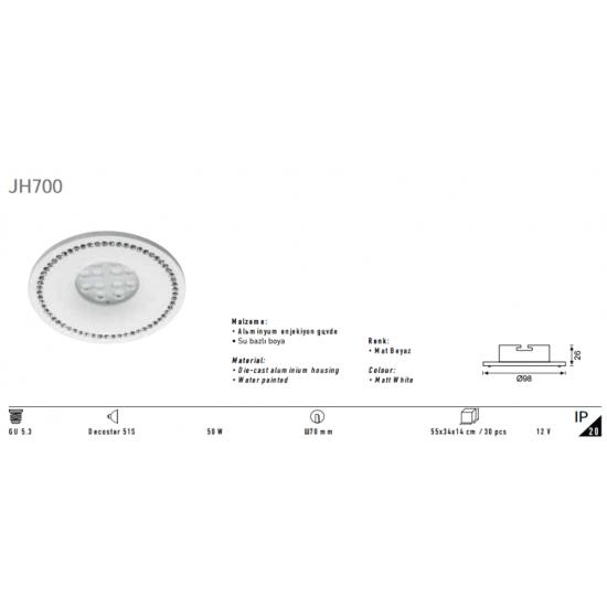 Jupiter Tavan Armatür JH700 Beyaz