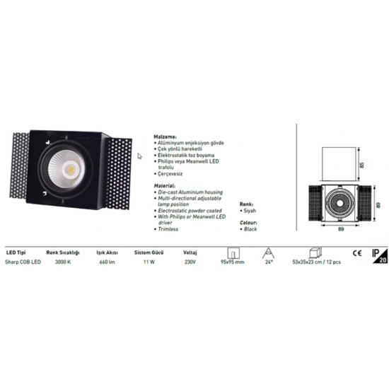 Jupiter Led Downlight Armatür LD410